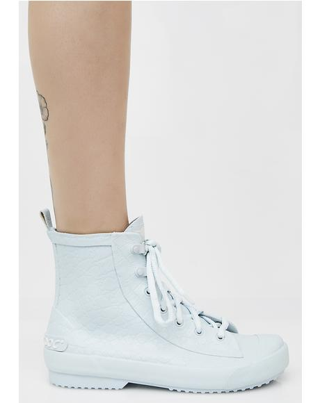 Rainy Pale Blue Nevada Sneaker Rain Boots