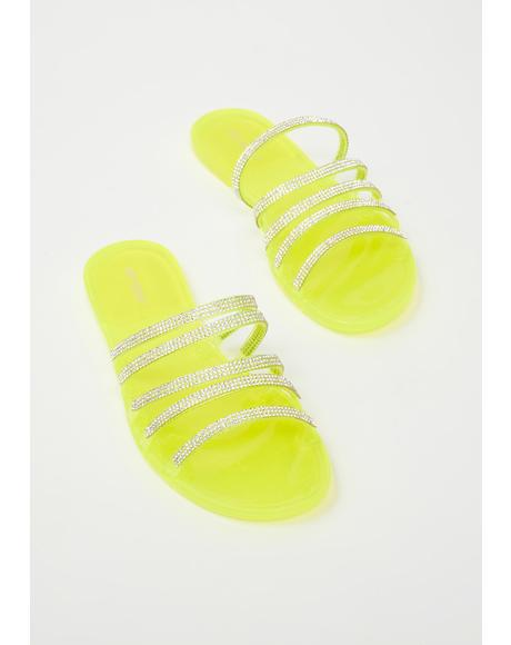 Atomic Everyday Drip Rhinestone Sandals