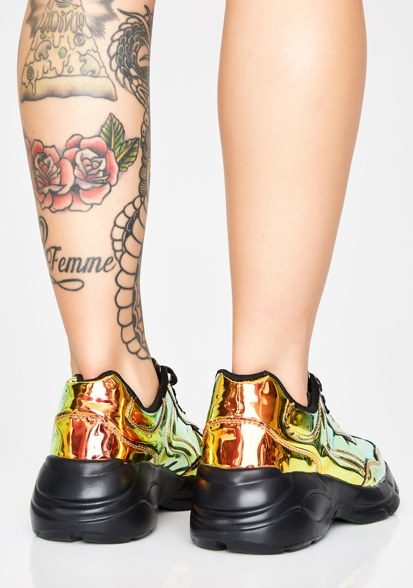Nuclear Cybergoth Platform Sneakers