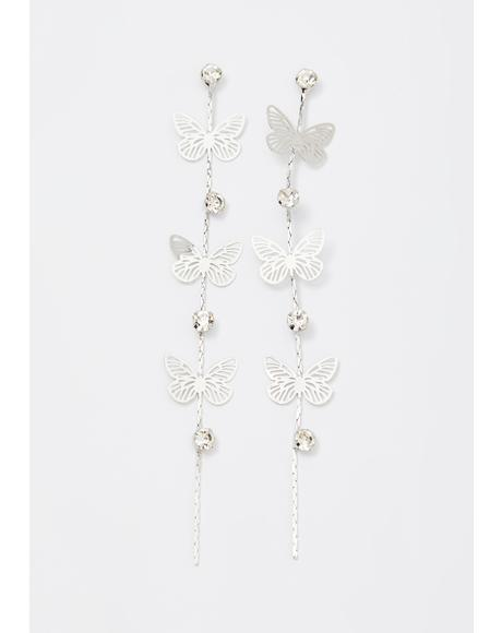 Flutter Bye Drop Earrings
