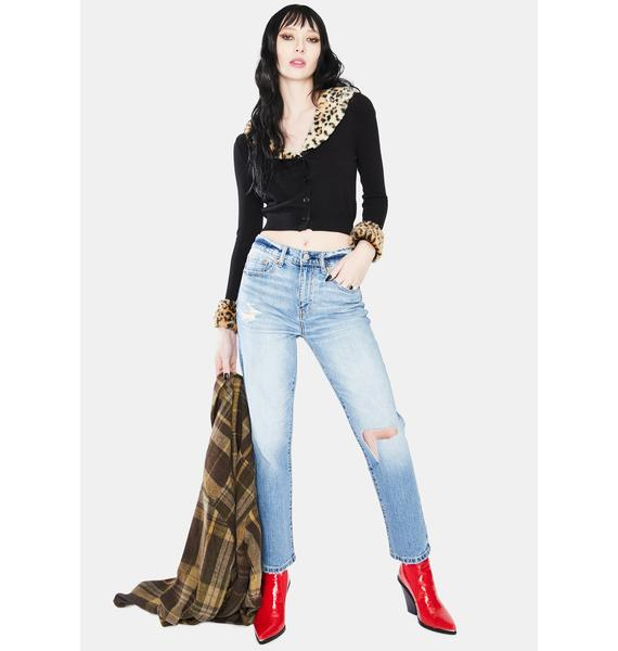 Daze Fool's Gold Straight Up Distressed Denim Jeans