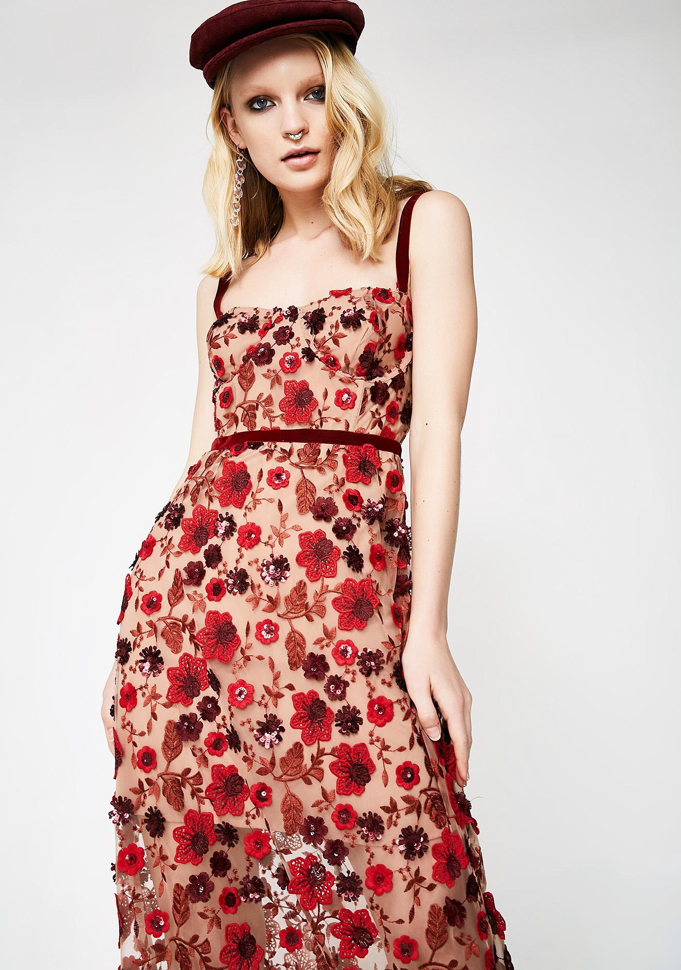 893e35d5e615 For Love & Lemons Beatrice Strappy Maxi Dress | Dolls Kill