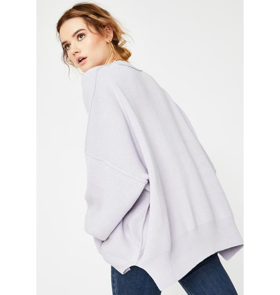 Free People Lavender Easy Street Oversize Tunic