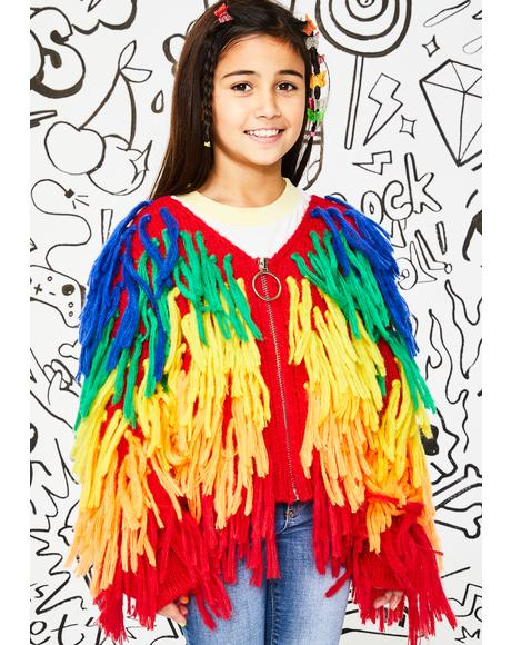 Kids Rainbow Trippin' Shaggy Sweater