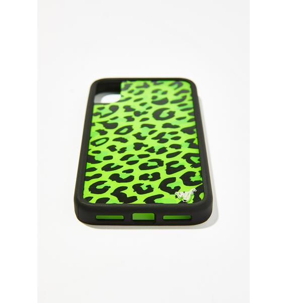 Wildflower Neon Leopard iPhone Case