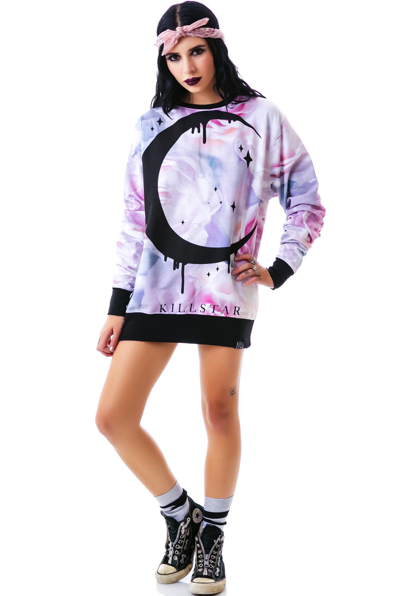 Killstar Pastel Moon Sweatshirt