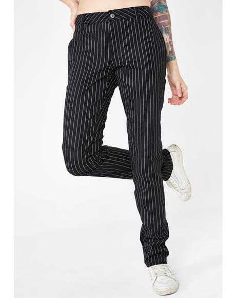 Low Rise Gangsta Pinstripe Pants