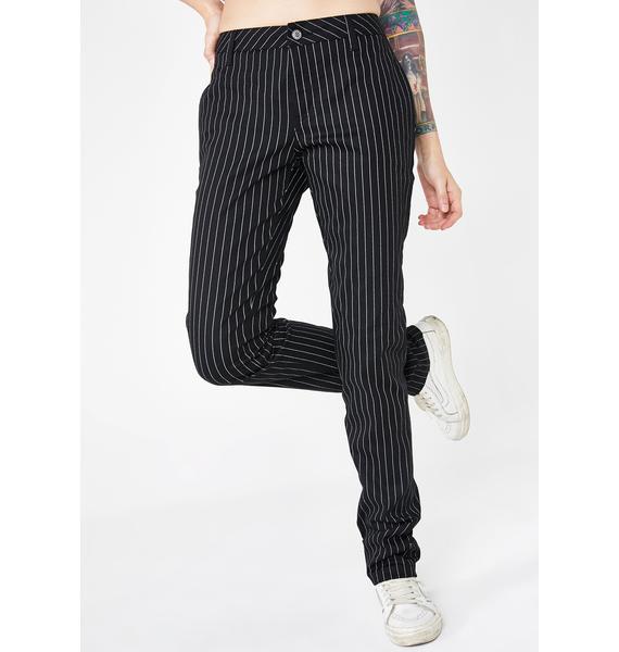 Dickies Girl Low Rise Gangsta Pinstripe Pants