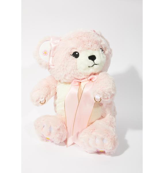 Blush Bear Buddy Crossbody Bag