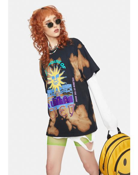 House Of Obey Tie Dye Graphic Tee
