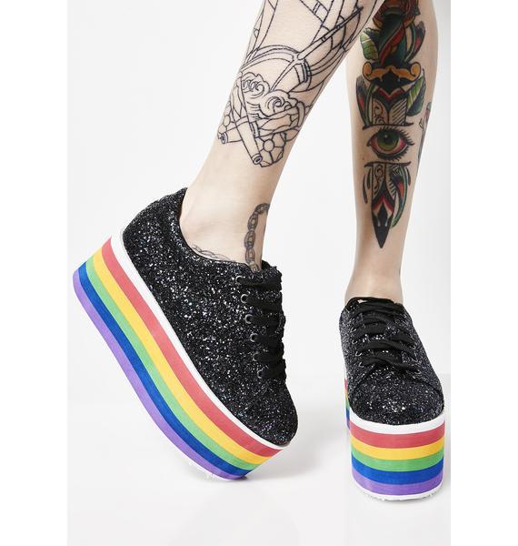 Taste My Rainbow Platform Sneakers
