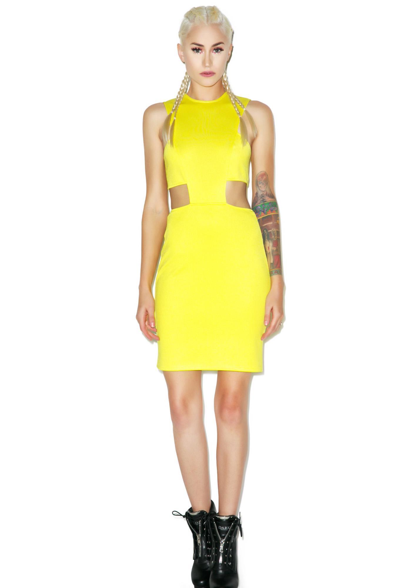Lemon Dropz Bodycon Dress