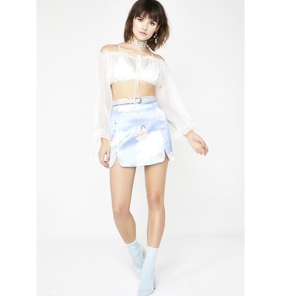 Sugar Thrillz Celestial Sass Satin Skirt
