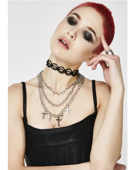 Dooms Day Beaded Choker