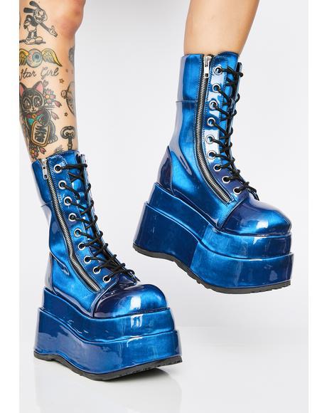 Color Shift Vampyro Platform Boots