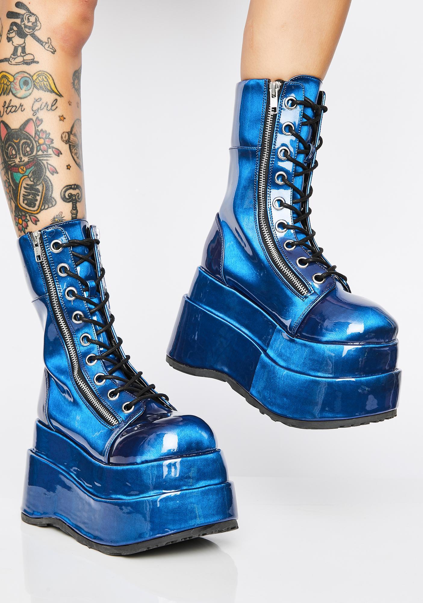 Demonia Color Shift Vampyro Platform Boots