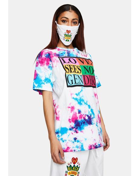 Love Sees No Gender Tie Dye T-Shirt