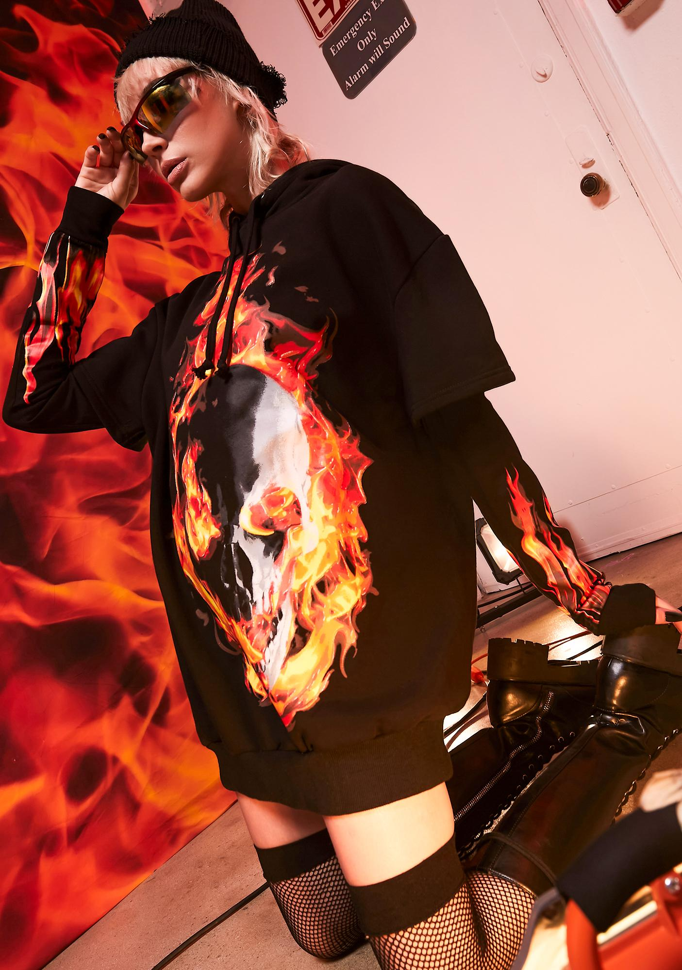 Current Mood Detention Fire Hoodie Tee