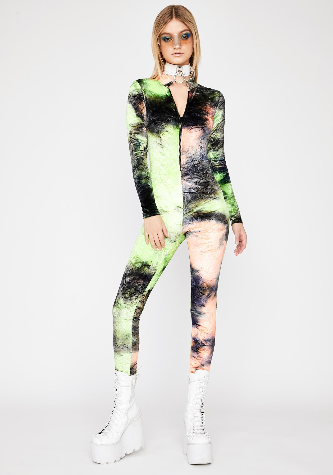 Acid Sorbet Zip Up Catsuit