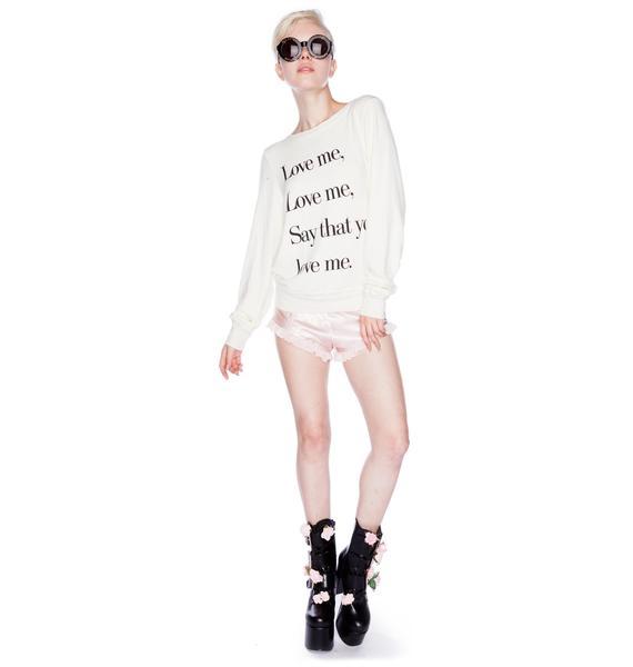 Wildfox Couture Love Me Beach Baggy Jumper
