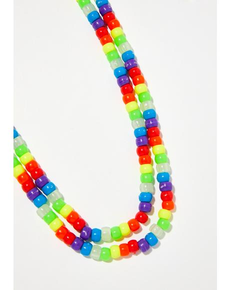 Sugar Coated Cutie Beaded Necklace