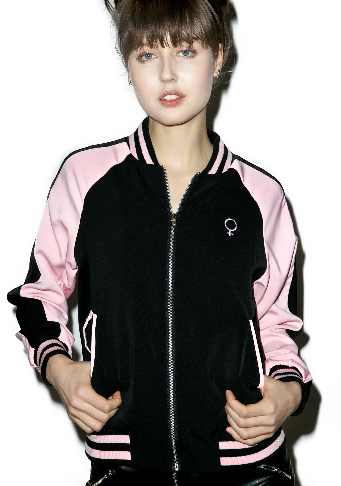 Disturbia Punk Ladies Bomber Jacket