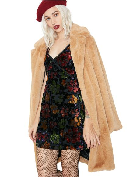 Autumn Daze Velvet Dress