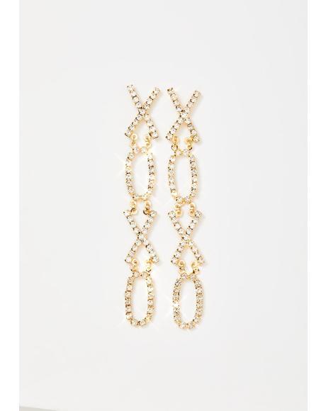 With Love Rhinestone Drop Earrings