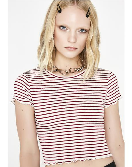 Be Mellow Striped Top