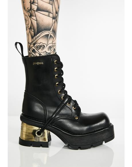 Pedal To The Metal Leather Boots