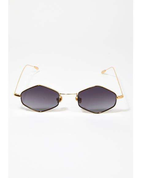 Black Ford Wire Frame Sunglasses