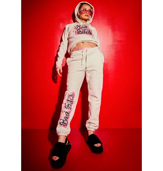 Poster Grl Bad Bish Vibe Airbrushed Fleece Joggers
