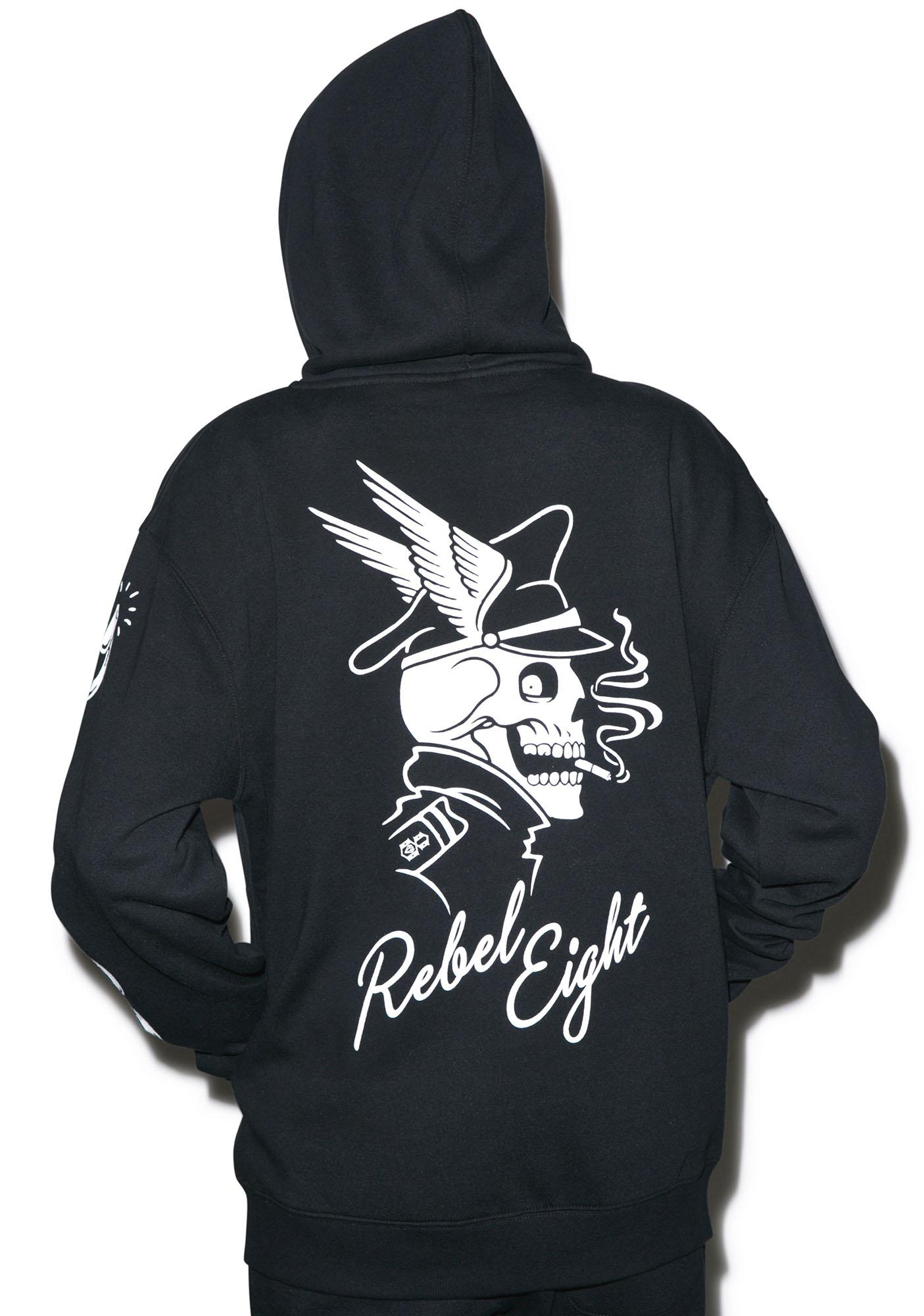 Rebel8 Ride Hard Zip-Up Hoodie