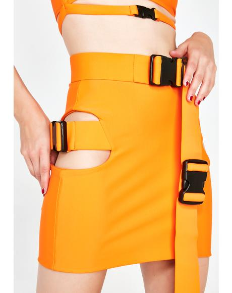 Agent Orange Buckle Skirt