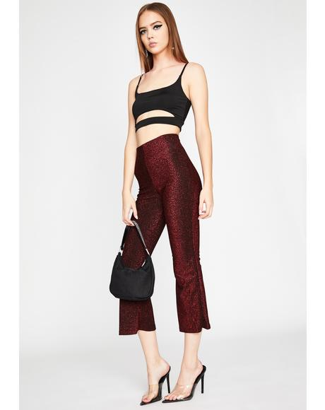 Wine Kick It Off Glitter Pants