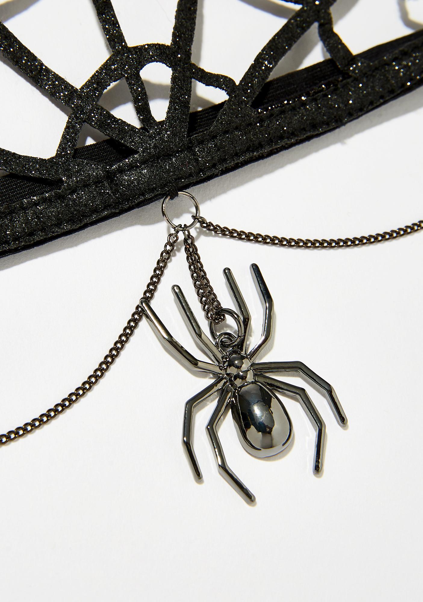 Black Widow Queen Glitter Crown