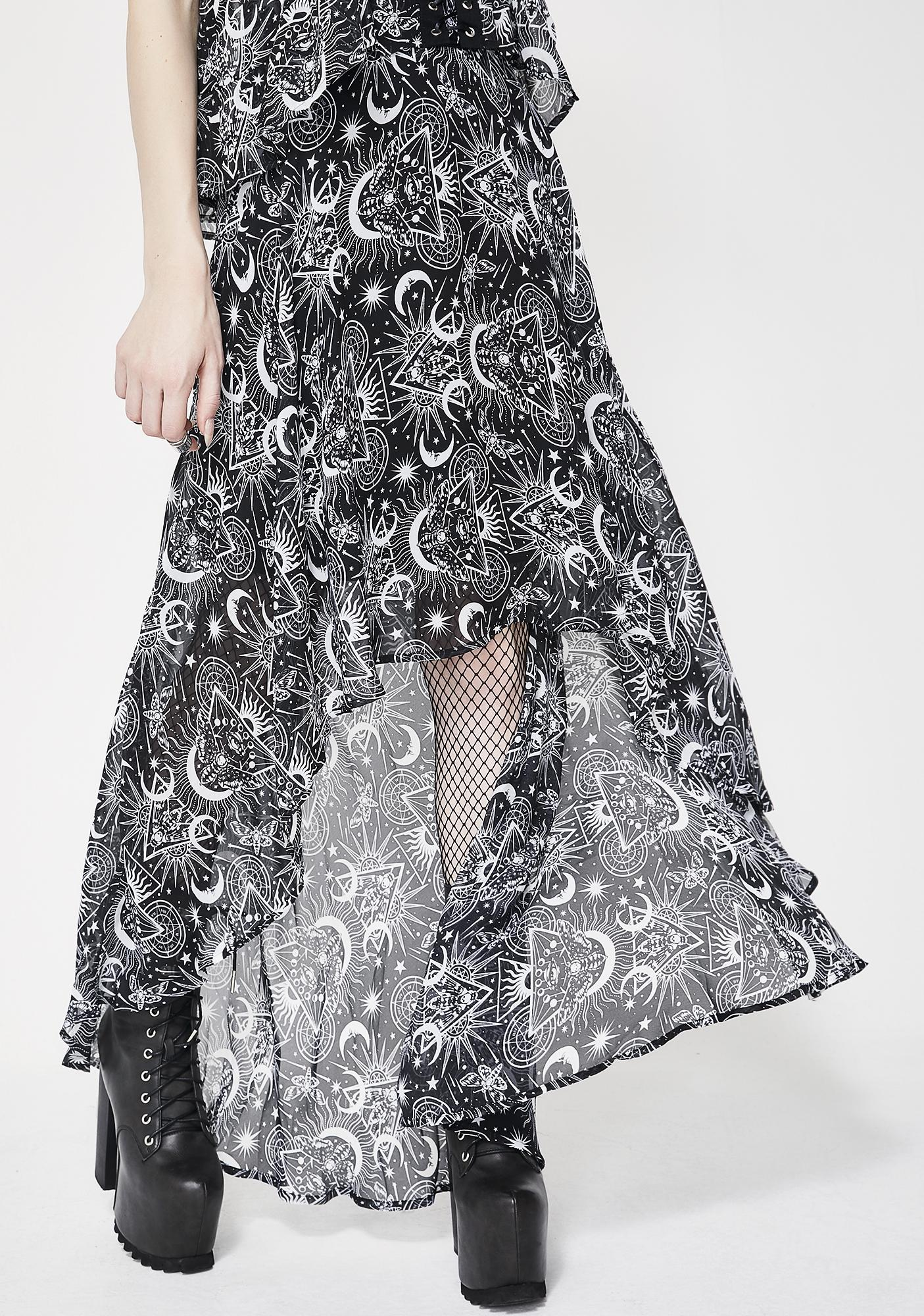 Killstar New Moon Maxi Skirt