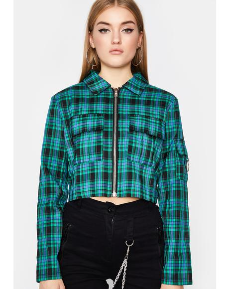 Word Of Mouth Plaid Jacket