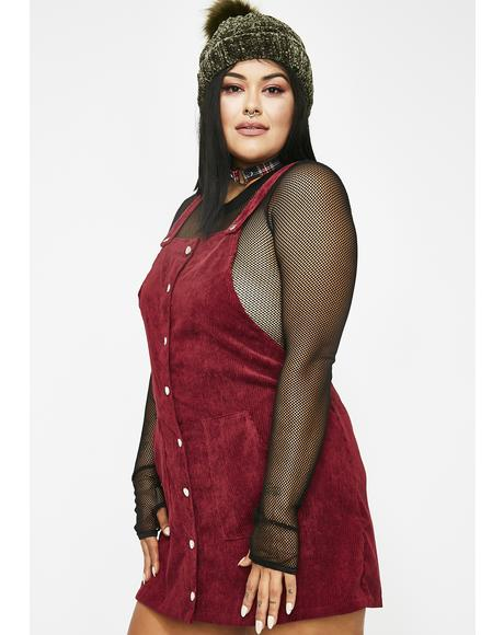 Miss Merlot Mami Corduroy Dress