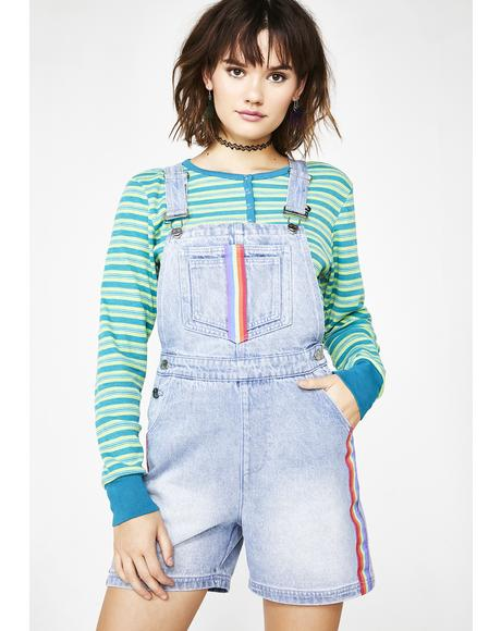 Back To 1999 Denim Shortalls