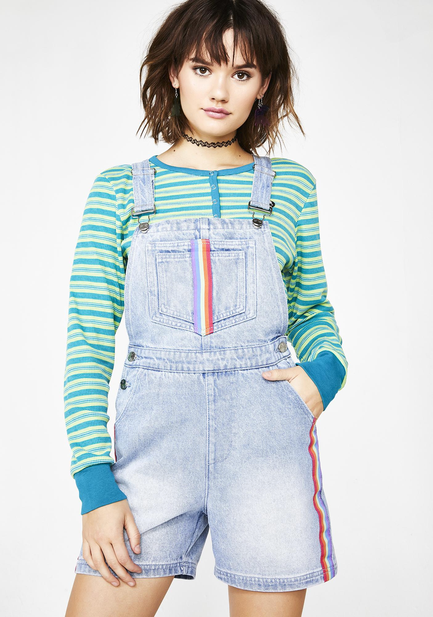dELiA*s by Dolls Kill Back To 1999 Denim Shortalls