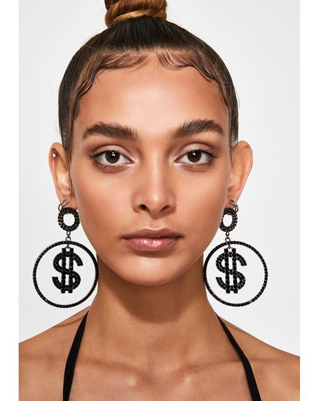 Hawt Commodity Hoop Earrings