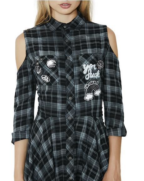Polly Woven Shirt-Dress