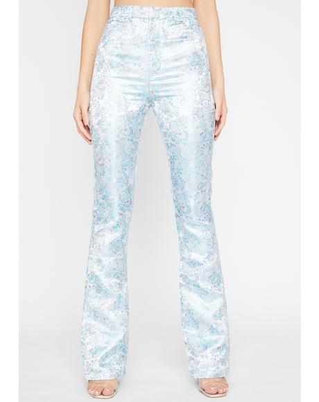 Platinum Evening Shadows Brocade Pants