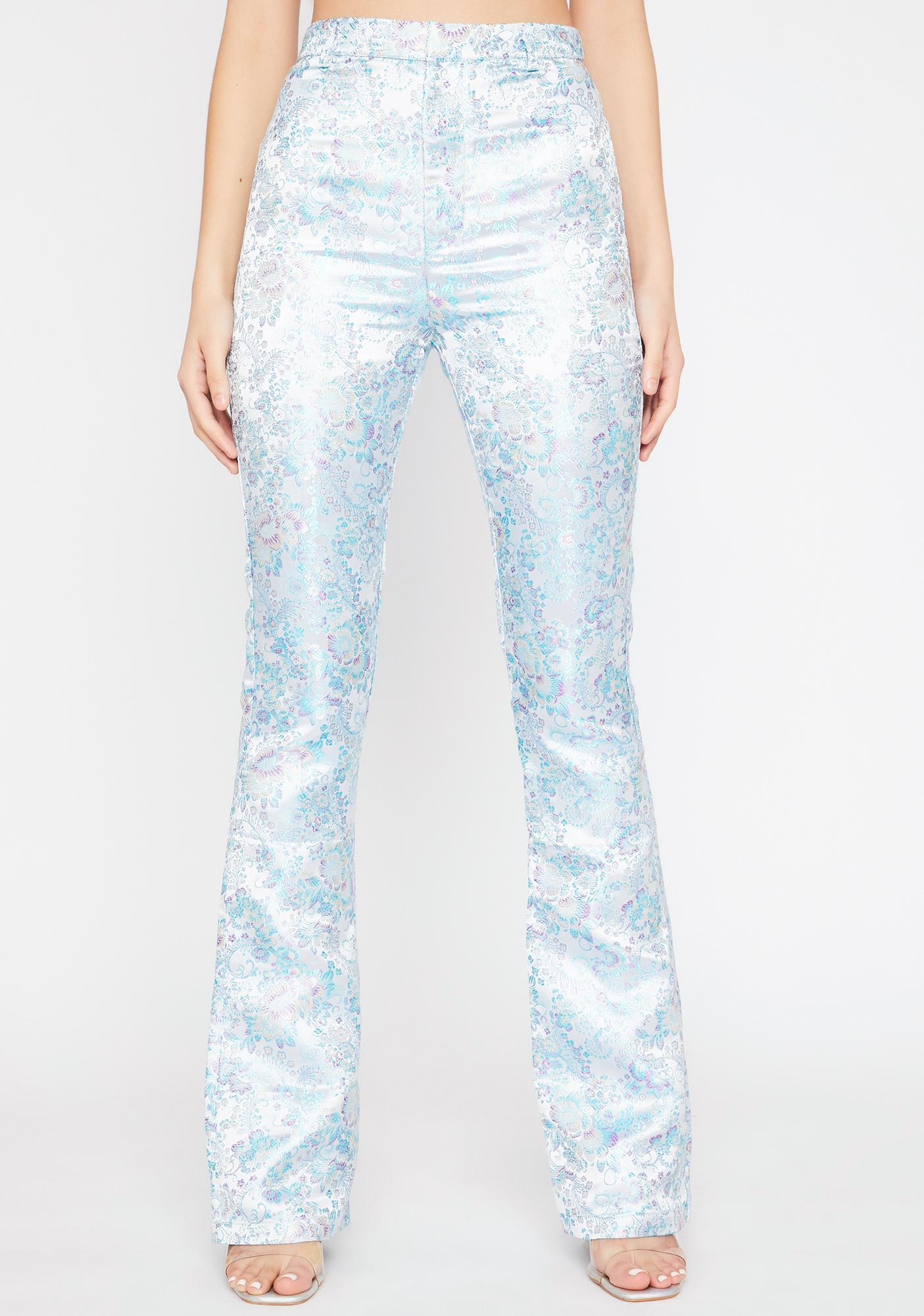 Platinum Evening Shadows Brocade Pants