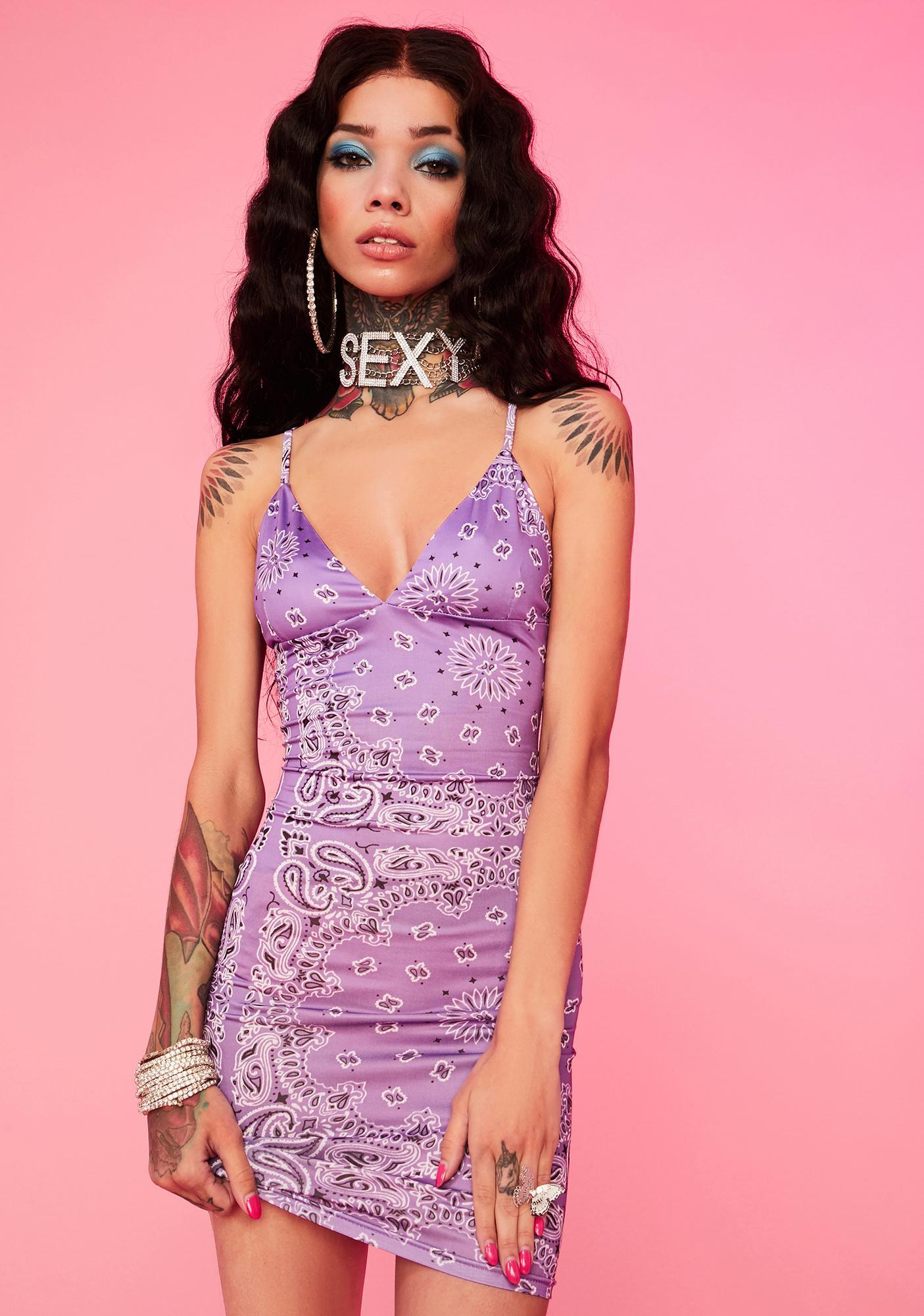 Lilac Ride It Out Mini Dress