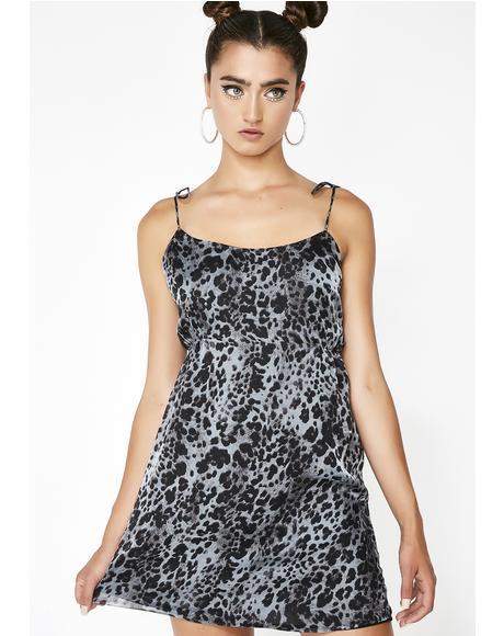 Miss Kitty Leopard Slip Dress