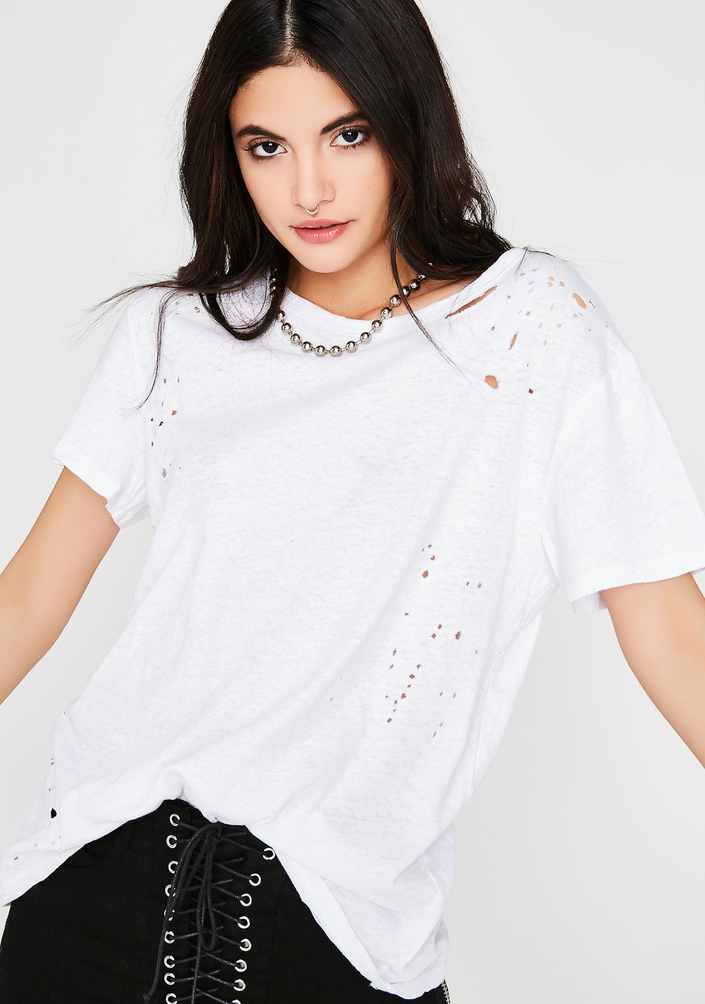 Icy Keep It Cool Distressed Tee