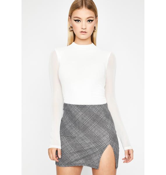 Posh To Death Checkered Skirt