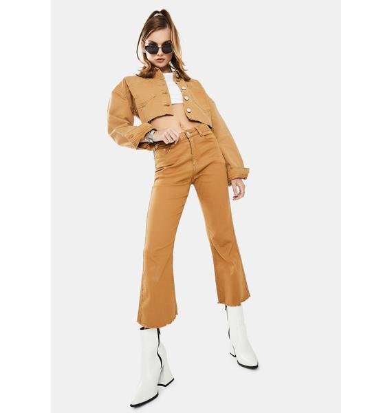 Glamorous Tobacco Cropped Jacket